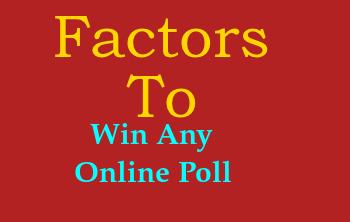 Factors to Win Polls