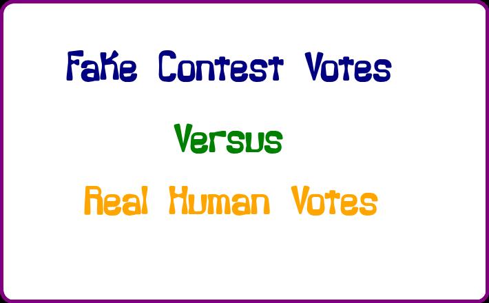 fake votes vs real