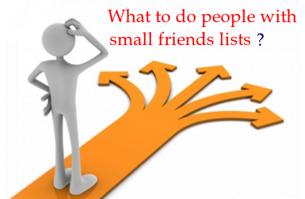 People with small friends