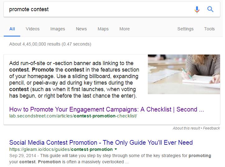promote contest