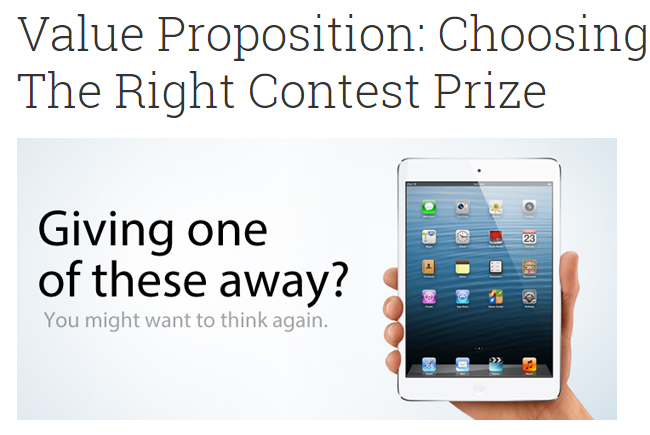 choose the right contest page
