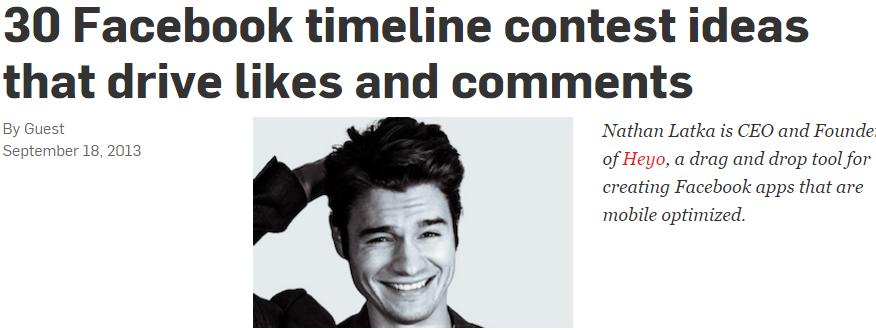 timeline contest ideas