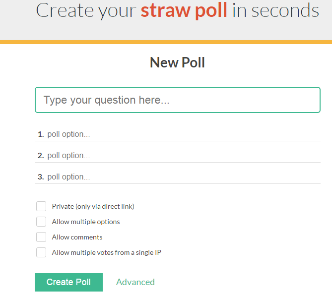 What Is Straw Poll? - Powertowin